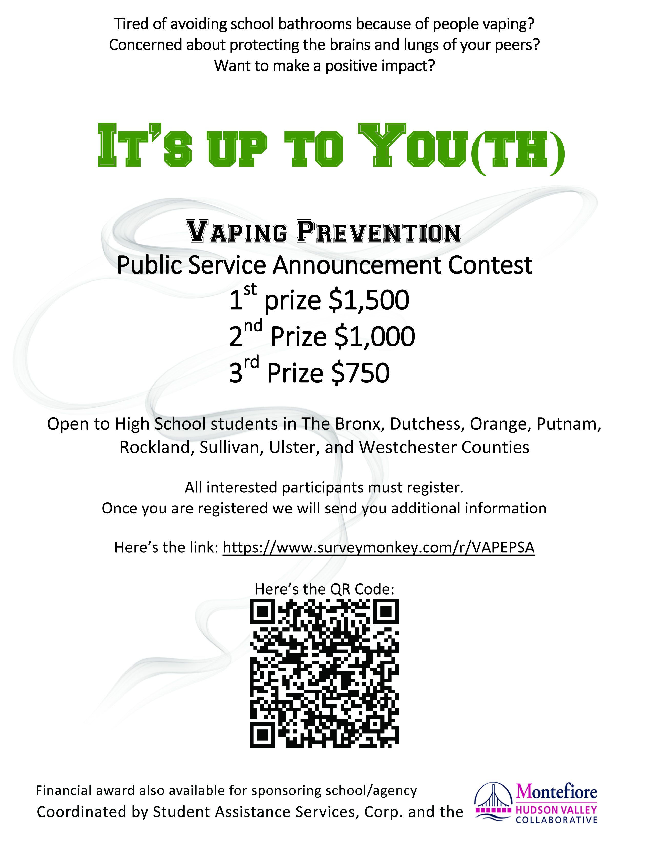"""It's Up to You(th)"""": SAS Hosts PSA Contest and Anti-Vaping"""